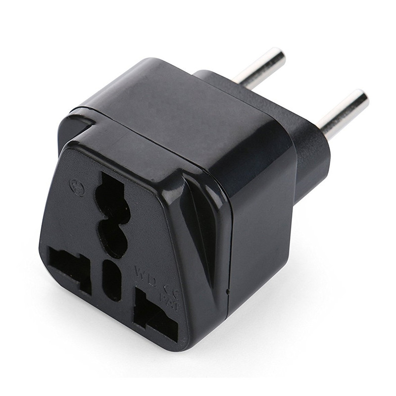 RRTRAVEL European plug adapter,Germany,Danmark,Finland,France,Norway,Poland,Portugal,South Korea, Austria, Italy, Belgium, Brazil, Bulgaria, Bameroon, Croatia